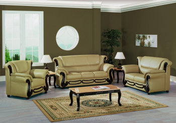 French style cheap price wooden sofa set design beige - Living room sets for cheap prices ...