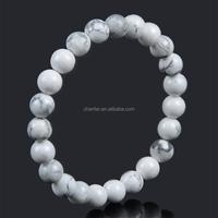 8mm elastic chain semi-precious nature stone bracelet for women and man jewelry