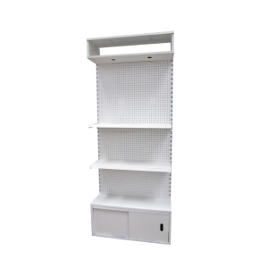 2018 retail store tool shelf portable goods display rack unit tool rack with light box unit