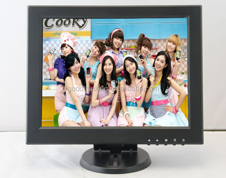 1024*768 Desktop VESA Mount Digital Screen BNC VGA TFT 12 inch LCD CCTV Monitor