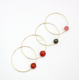 Handmade Gold Plating Stone Bracelet Jewelry with Natural Stone Ball Jade Bangle