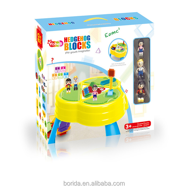 Fashional Toy ABS 3D Building Blocks For Kids With Table And 3 Dolls
