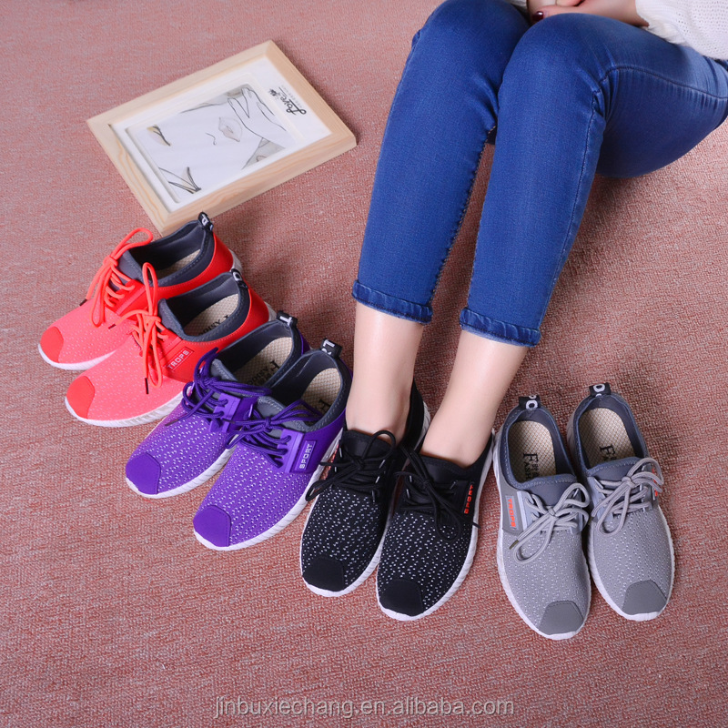 Brand style 2018 new running and traning sports shoes cheap <strong>flat</strong> walking shoes for women