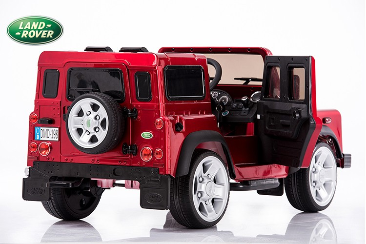 Painting Black Land Rover Defender Kids Ride On Truck Car