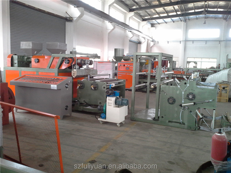 casting style co-extrusion 3 layer t-die stretch film extruder