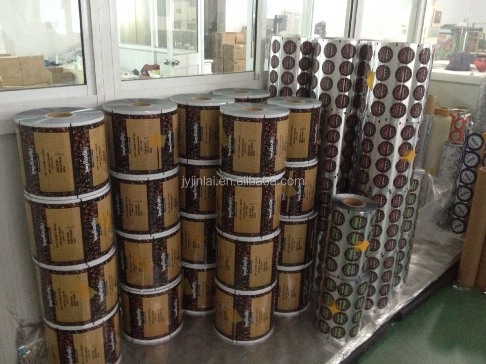 high quality food packing laminated film roll/roll packing film