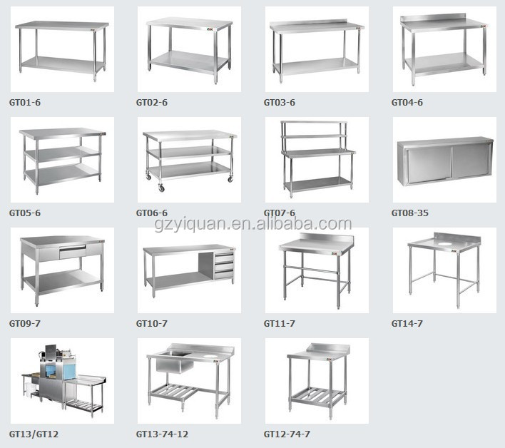 Multi Purpose Stainless Steel Work Table With Kitchen Sink Under Shelf Bench Platform