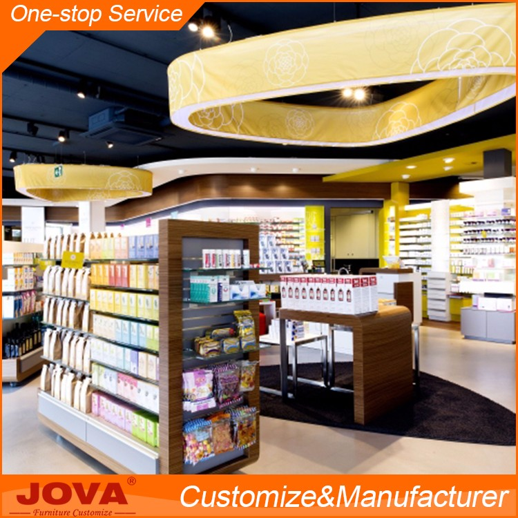 High Quality Pharmacy Counter Rack Shelves Furniture Store Display Rack For Medical Store