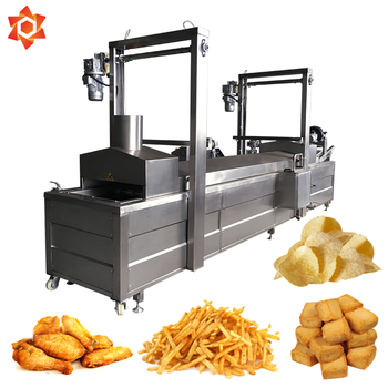 Mini commercial gas electric continuous small conveyor deep fat conveyor fryer
