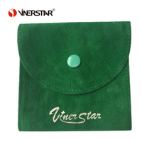 Logo Customized Recyclable Fashion mini velvet snap jewelry pouches