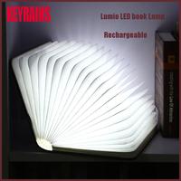 Wedding Decoration folding paper book Shape Mini LED Table Lamps