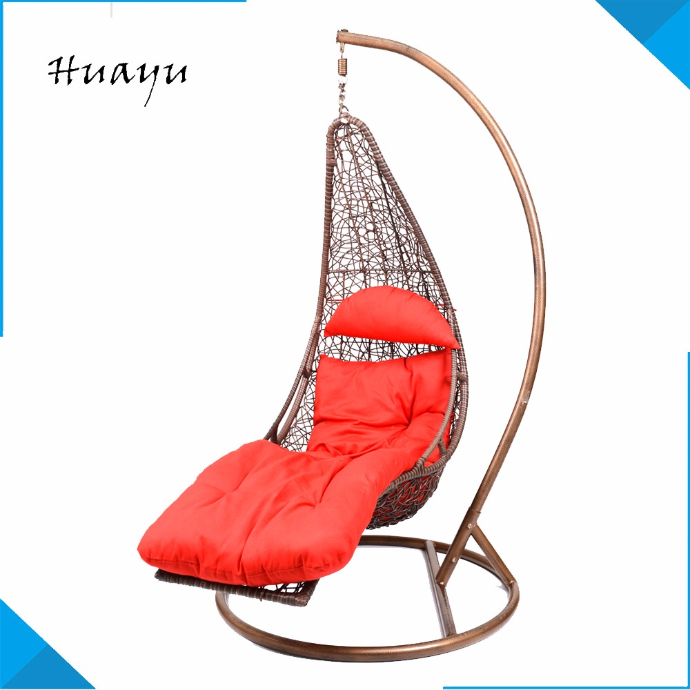 outdoor indoor teardrop adult single seat swing bamboo egg