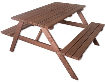 Admirable Woodside 4Ft Outdoor Pressure Treated Picnic Pub Bench Garden Table Buy Kids Outdoor Picnic Table Cheap Picnic Tables Composite Picnic Tables Machost Co Dining Chair Design Ideas Machostcouk