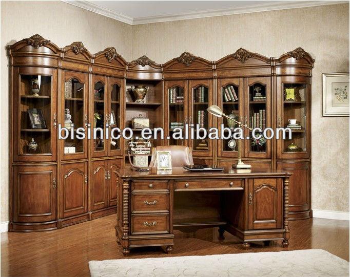 Estilo country americano de madeira mesa da sala de estudo; estilo ...