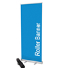 Aluminium Luxury Tear Drop Retractable Roll Up Banner Display Stand