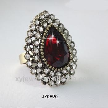 Wholesale Gold Ring Turkish Design Emerald Stone Prices Latest