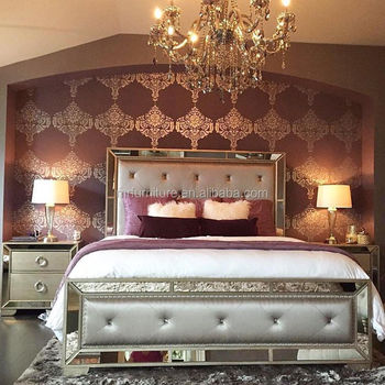 Uphostered Tufted Mirrored Bed Room Furniture Set-full /queen/king ...