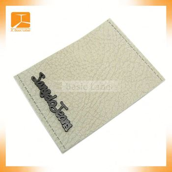 good price button for upholstry camel color jeans leather label/metal plate in the middle for cloth