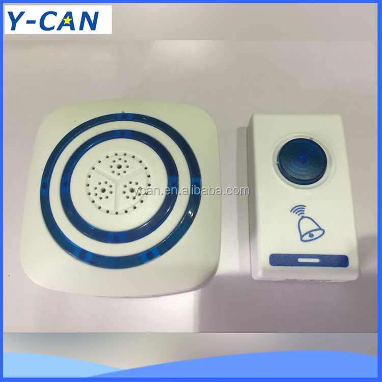 YK-8620A 2017 new ningbo Wireless doorbell with 32 melody for the deaf with LED fiash