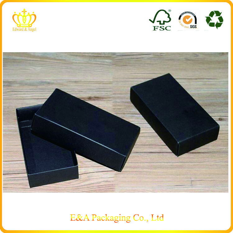 Wholesale custom blackcard paper folding gift boxes/gifts packaging folding box
