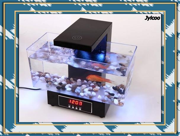 jyxd dc v usb escritorio mini acuario y pecera para escritorio de oficina