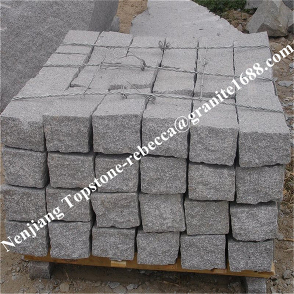 G341, G354, G375, G370, G350 cobblestone, grey cobblestone, red cobble stone, cubestone, cube stone, natural stone pavement
