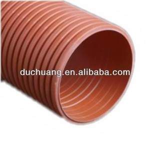 HDPE Double Wall Flexible Pipe Corrugated Conduit