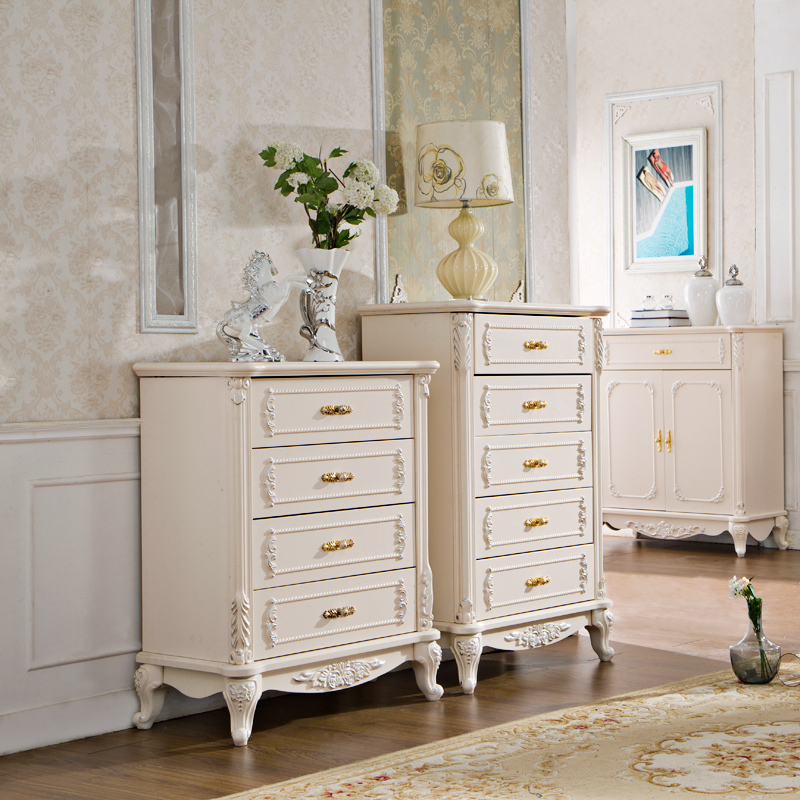 Pinkish/White Painted French Style Bedroom Sets and Country Style ...
