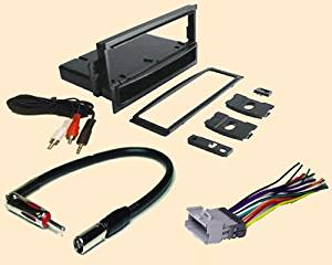 Pontiac Montana (2000 2001), Chevy Express Van (2001 2002), Chevrolet S10 (2002 2003), SSR (2005 2006), Venture (2000 2001)- Stereo wiring Harness, Dash Install Kit Faceplate, with FM Antenna Adaptor (Combo Complete Aftermarket Stereo Wire and Installation Kit for new stereo)