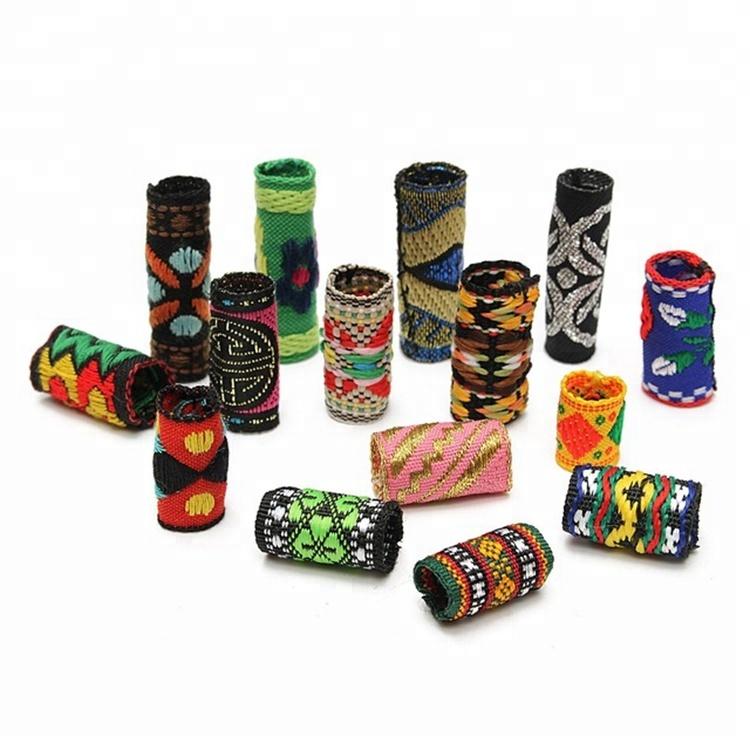 Free Shipping Colorful Fabric Dreadlock Beads Hair Braid Decoration Accessories Hair Clip Hair Pin