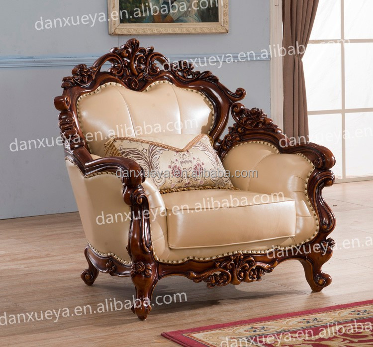 Danxueya Baroque Furniture Wooden Sofa Set Designs Pictures Of