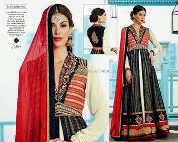 16760ffb457 Factory rate Kimora anarkali suits dresses semi stitched new design in  wholesale salwar kameez