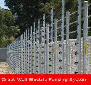 non-lethal free standing electric security fencing system energizer electric fence energizer