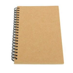 High quality custom brown spiral notebook with yellow paper manufacture