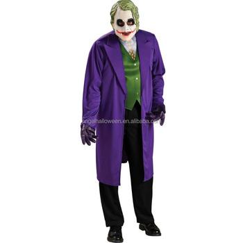 Cappotto Halloween Costume Spaventoso Viola Joker Partito Uomo Di Zq1wvHZOn
