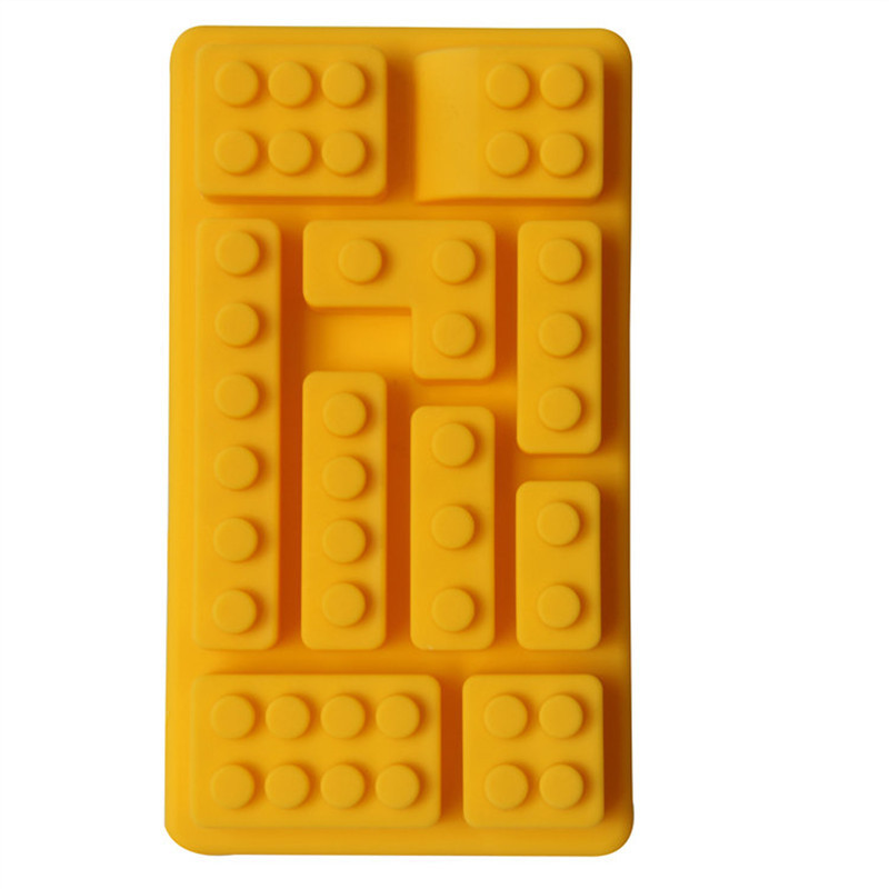 New Creative Durable Hot Selling 10 Holes Rectangle Shape Brick Silicone  Ice Maker Ice Cube Tray Mold of Kitchen Tools