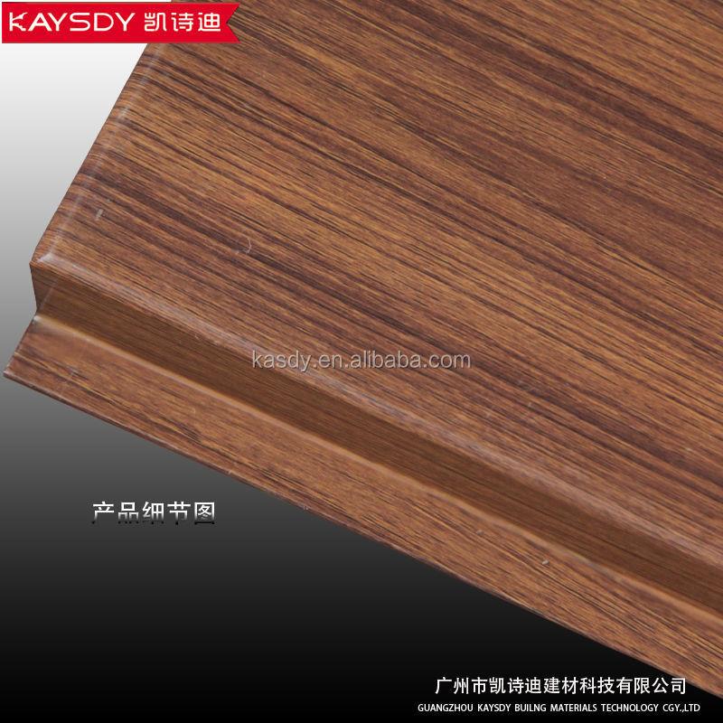 venta caliente g en forma de falso techo de madera del granode aluminio falso