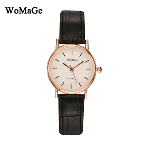 Brand Womage Watch Quartz Casual Fashion Leather Relojes Hot Luxury Analog watches women ladies female unisex wristwatch