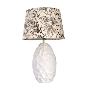 European design ceramic desk light home/hotel lamp with cloth cover