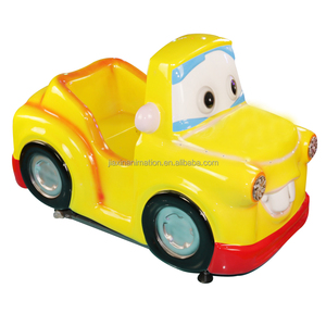 Yellow car coin operated children games kiddie ride
