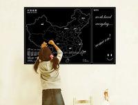 2014 New World Map Of China Removable Black Chalkboard Sticker