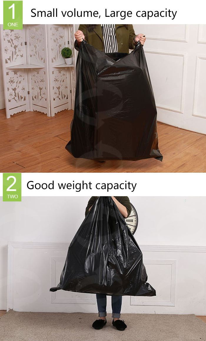 Recycled Garbage Bag 50cm*70cm Flat Garbage Bag 100L Trash Bag