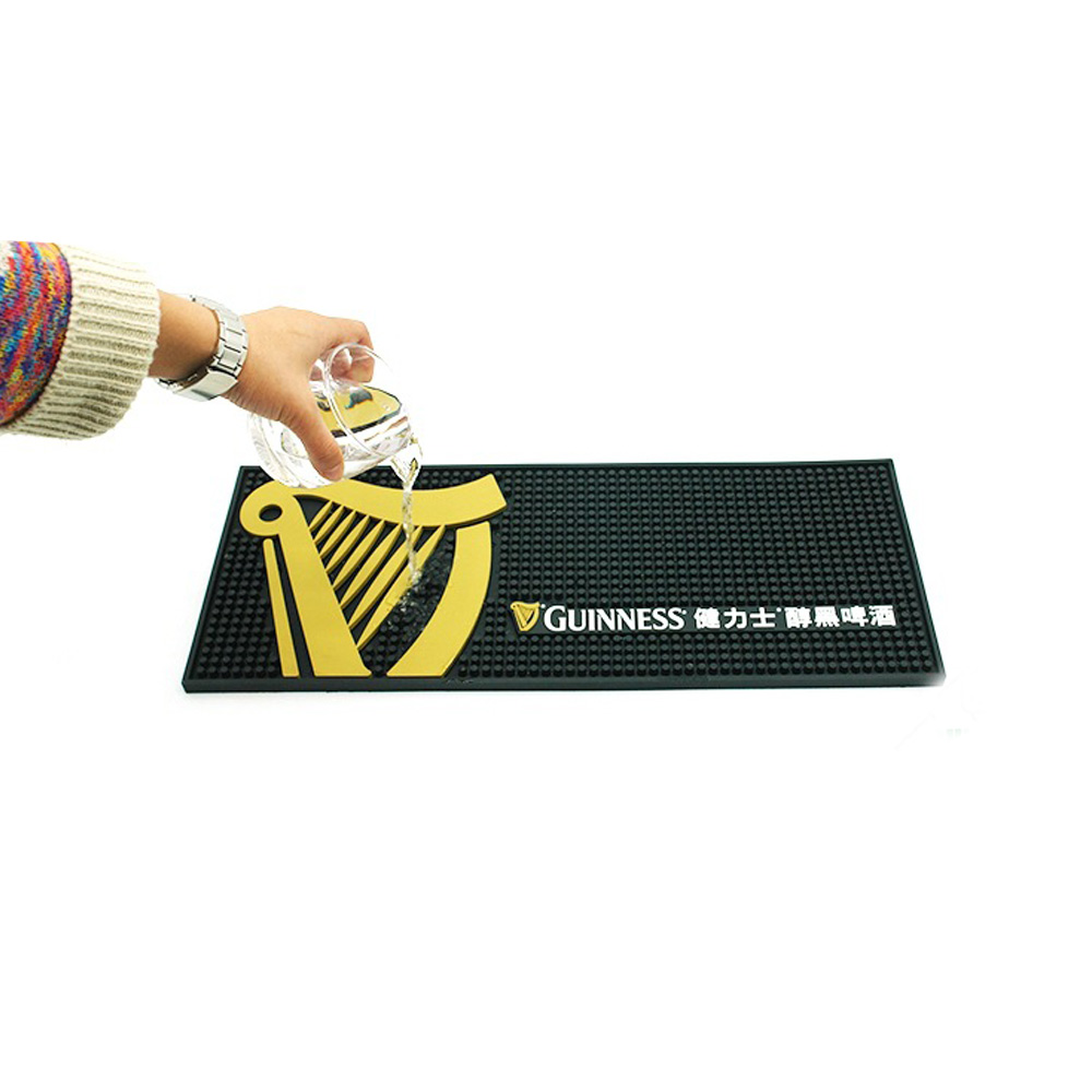 Custom PVC Beer Drip Bar Mat Runner Mat for Bar Accessories