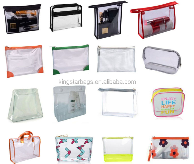 Wholesale Clear Plastic Zipper Cosmetic Bags With Private Label ...