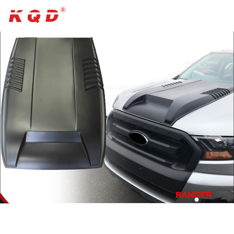Duurzaam auto 4x4 accessoires body kit air vent cover motorkap hood scoop cover ford ranger 2016
