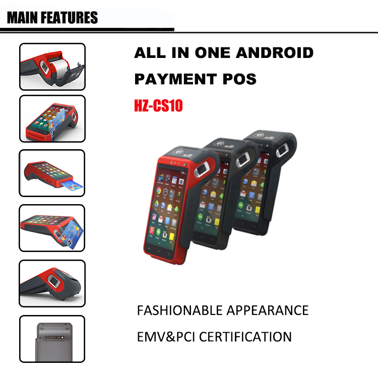 Android POS System All in one POS Terminal With Built in POS Printer
