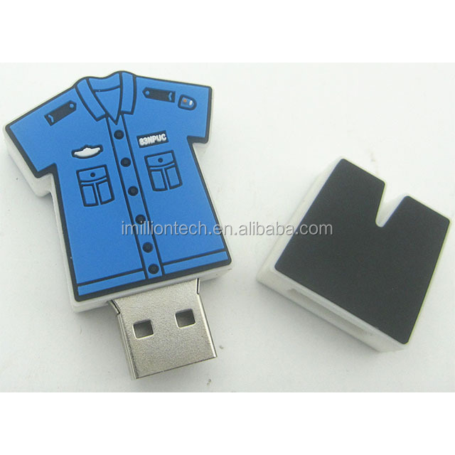 Novelty PVC sport clothes Custom USB Manufacturer