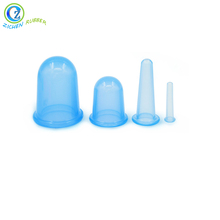 High Quality Anti Cellulite Vacuum Silicone Massage Cupping Silicone Facial Massage Cups Silicone Vacuum Suction Cup