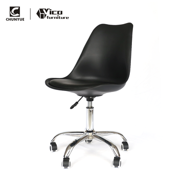 Bulk pp plastic swivel chair office furniture