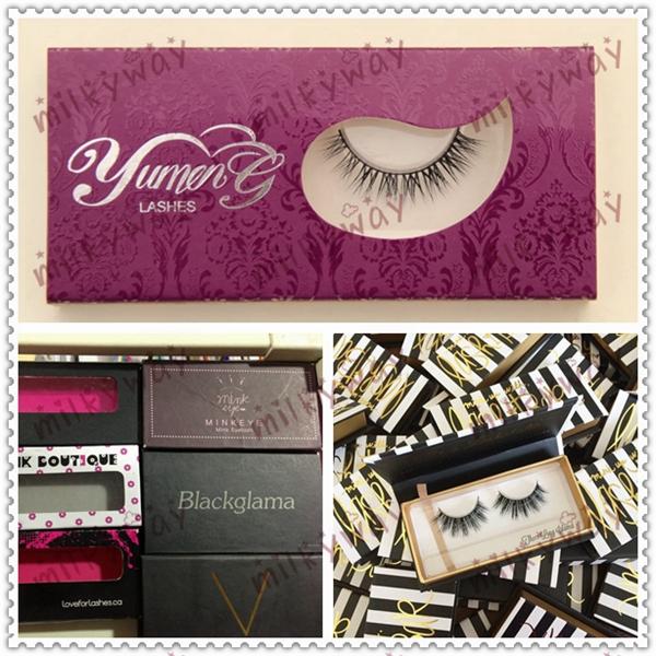 1ab1400a656 Milkyway alibaba wholesale custom eyelash packaging strip long lash 100%  real mink lashes
